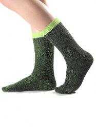 Warm Candy Edge Knit Socks -