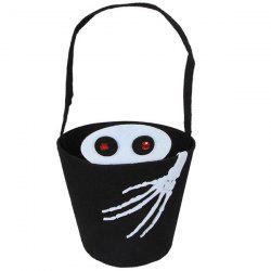 Skull Hand Bucket Shaped Halloween Tote Bag -