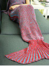 High Quality Knitting Mermaid Tail Style Soft Sleeping Blanket -