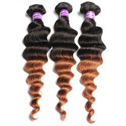 1 Pcs Ombre Loose Wave Brazilian 6A Virgin Hair Weaves -