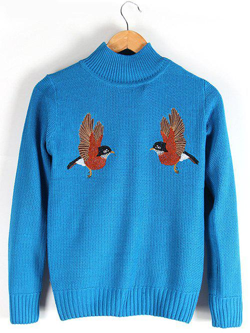 Embroidered Ribbed Sweater 195803211