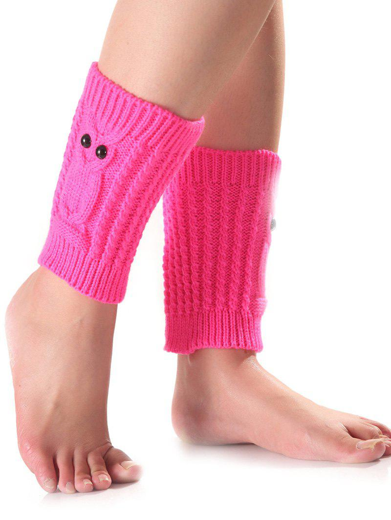 Bouton chaud Owl Crochet Knit Boot Cuffs