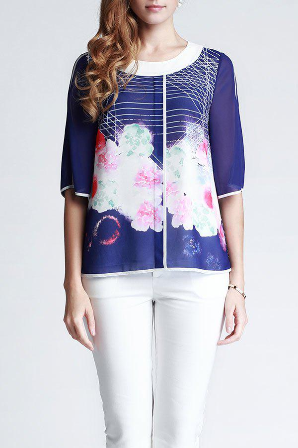 Outfit Chiffon Floral Blouse