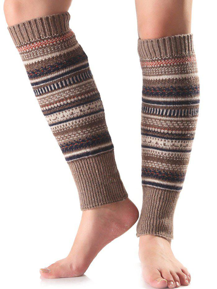 Chaud ethniques Warmers Multicolor Stripe Knit Leg