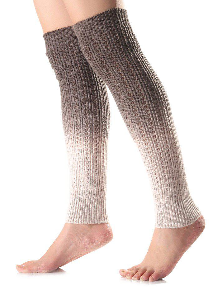 Chic Warm Ombre Knit Leg Warmers