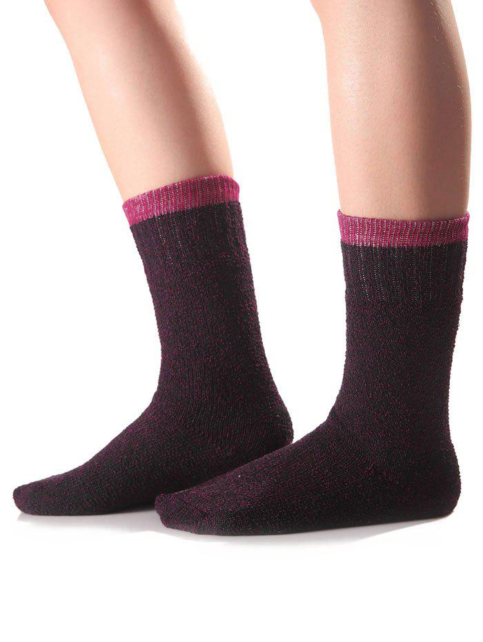 Online Warm Candy Edge Knit Socks