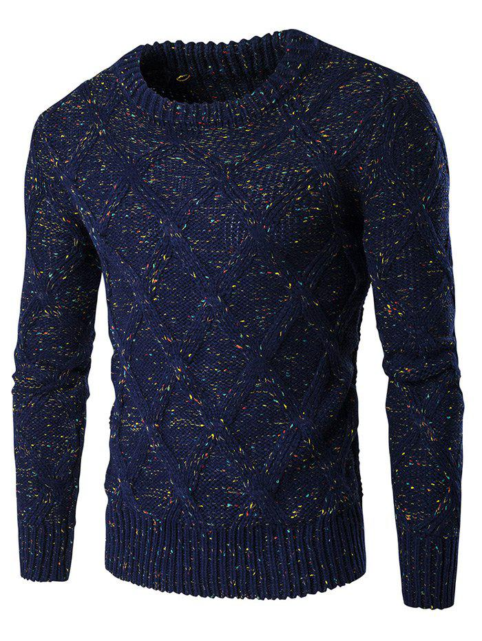 Affordable Crew Neck Colorful Kink Design Long Sleeve Sweater