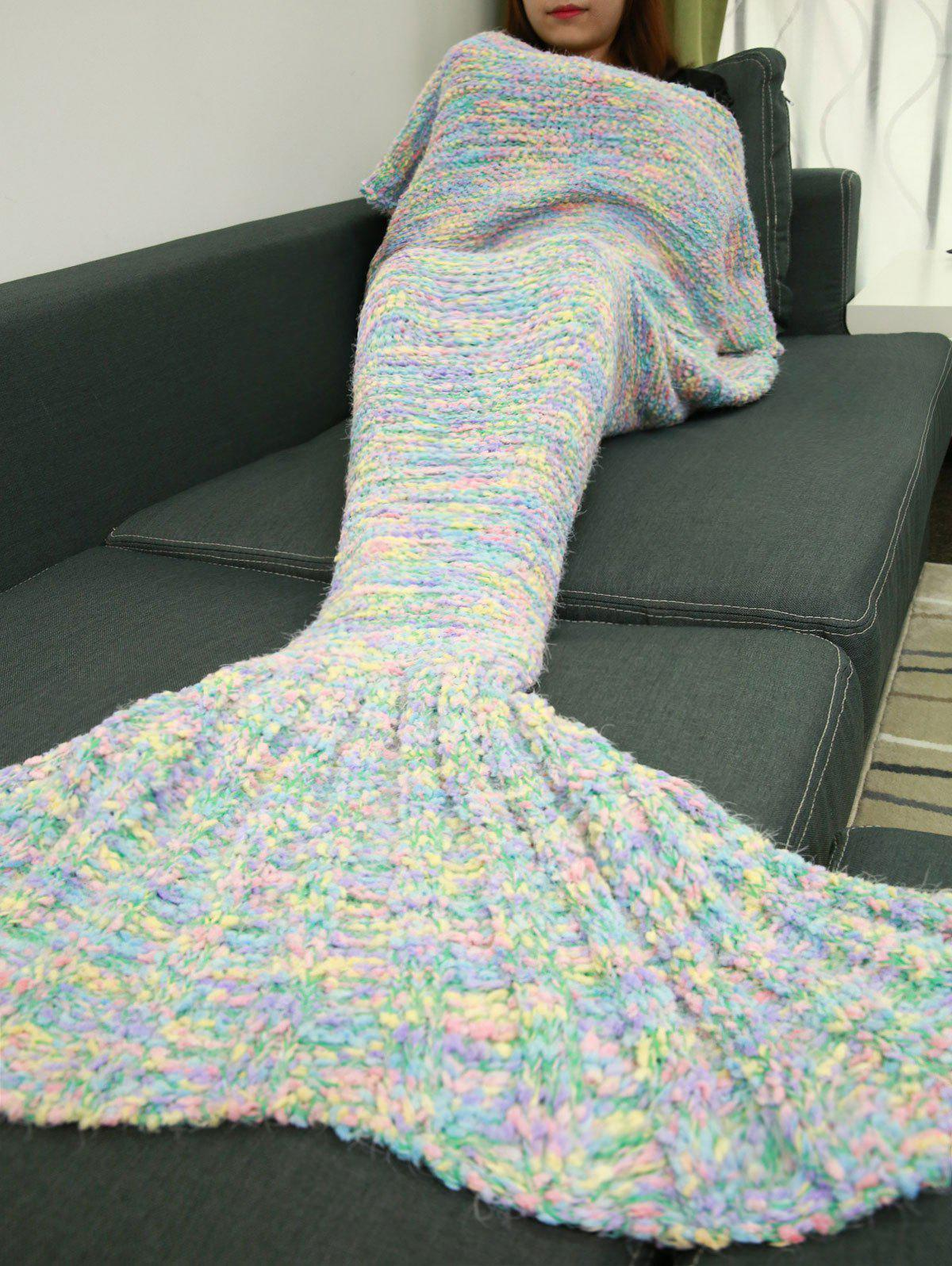 Affordable Good Quality Knitted Sofa Bed Mermaid Tail Blanket