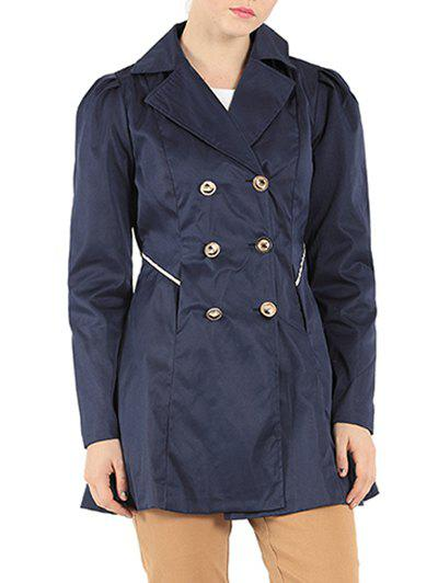 Hot Slim Fit Double Breasted Dressy Trench Coat
