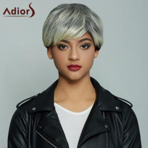 Adiors Short Pixie Cut Full Bang Straight Mixcolor Synthetic Wig - Colormix