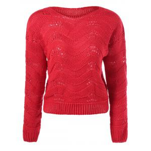 Ribbed Openwork Sweater