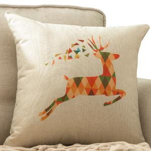 Colorful Milu Deer Printed Car Cushion Home Decor Pillow Case