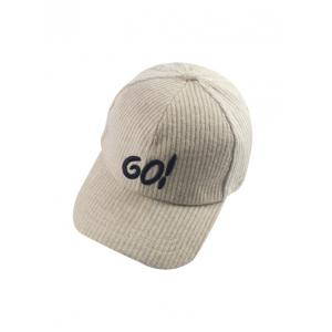 Autumn GO Embroidery Corduroy Baseball Hat - Off-white - S