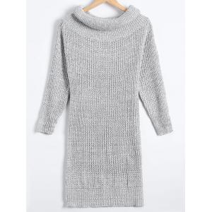 Sheath Turtleneck Chunky Sweater Dress