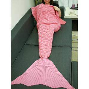 Fish Scale Design Sleeping Bag Wrap Mermaid Tail Blanket - Pink - S