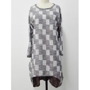 Checkered Print High Low Plus Size Dress