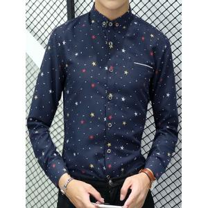 Star Polka Dot Printed Long Sleeve Shirt