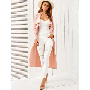 Draped Long Belted Duster Coat