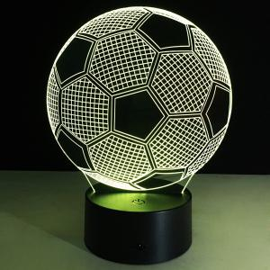 3D Christmas Football Shape Touch Colorful Night Light