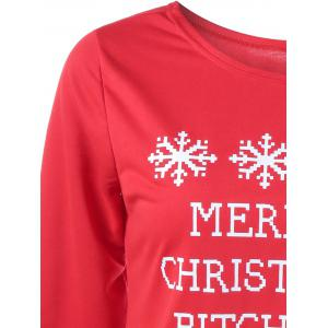 Merry Christmas Bitches Graphic Sweatshirt - RED L
