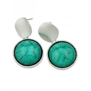 Faux Gem Circle Sequin Earrings -