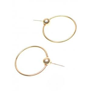 Bead Round Circle Earrings - GOLDEN