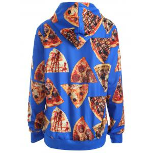 Pullover Pizza 3D Print Hoodie - BLUE M