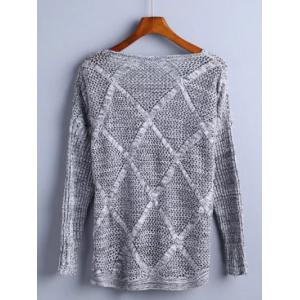 Hollow Out Rhombus Pullover Knitwear -