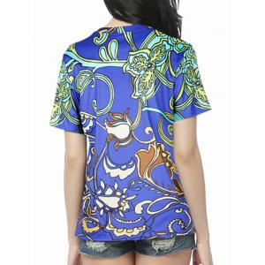 3D Floral Printed T-Shirt -