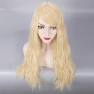 Long Fluffy Side Bang Slightly Curled Lolita Cosplay Synthetic Wig -