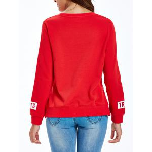 Loose GHTG Words Slit Sweatshirt -