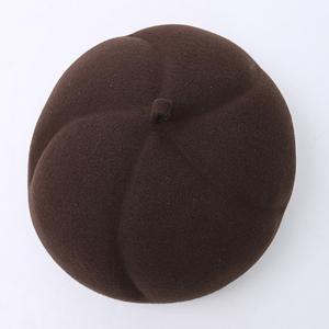 Casual Retro Pumpkin Shape Felt Artist Beret French Hat -