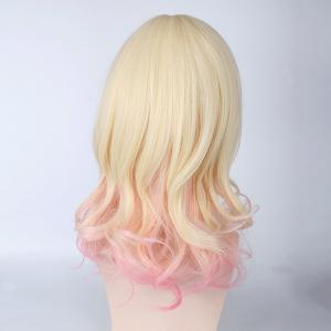 Komori Yui Diabolik Lovers Cosplay Medium Full Bang Curly Synthetic Wig -