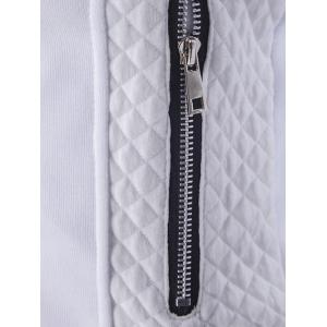 Quilting Insert Stand Collar Zip Up Jacket -