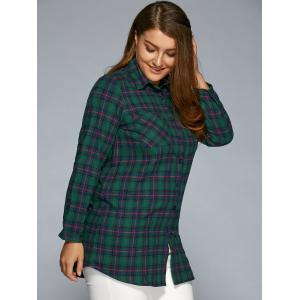 Deep green xl plus size thick plaid flannel shirt for Plus size plaid flannel shirt