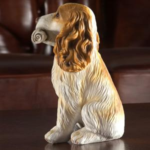 Home Table Decoration Dog Animal Statue Craft - WHITE/YELLOW