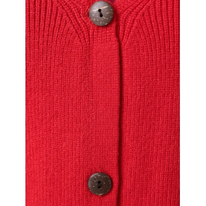 Ribbed Button Design Cardigan -