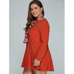 Mini Plus Size Long Sleeve Skater Dress -