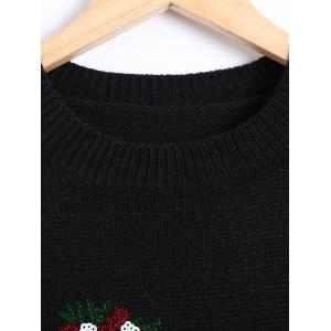 Christmas Kiss Me Sequin Pullover Sweater -