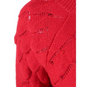 Scalloped Textured Knit Sweater -