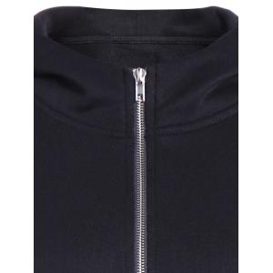 Autumn Side Slit Zipper Long Pullover Hoodie -