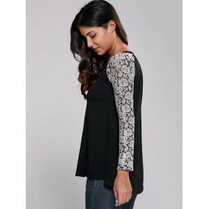 Lace Sleeve Blouse -