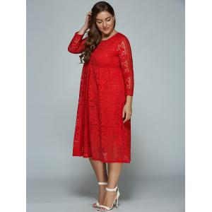 Midi Formal Plus Size Lace Dress -