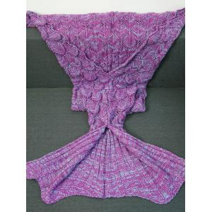 Crochet Knitting Fish Scales Design Mermaid Tail Style Blanket -