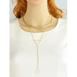 Alloy Circle Triangle Choker -
