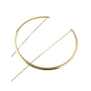 Alloy Circle Triangle Choker - GOLDEN