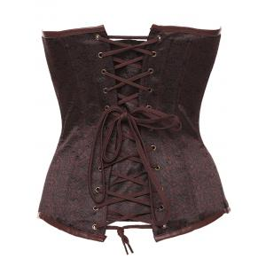 Steampunk Lace Up Steel Boned Corset -