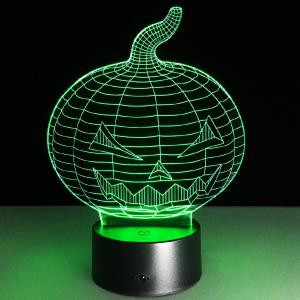 3D Halloween Pumpkin Shape Touch Colorful Night Light -