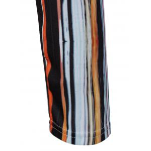 High Waist Striped Printed Slimming Dress -