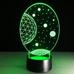 3D Christmas Galaxy Shape Touch Colorful Night Light - TRANSPARENT